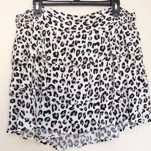 Torrid Leopard Print Ruffle Skirt Size 2X
